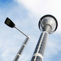 Solar lichtmast - Soluxio lantaarnpaal op zonne energie armatuur top luminaire