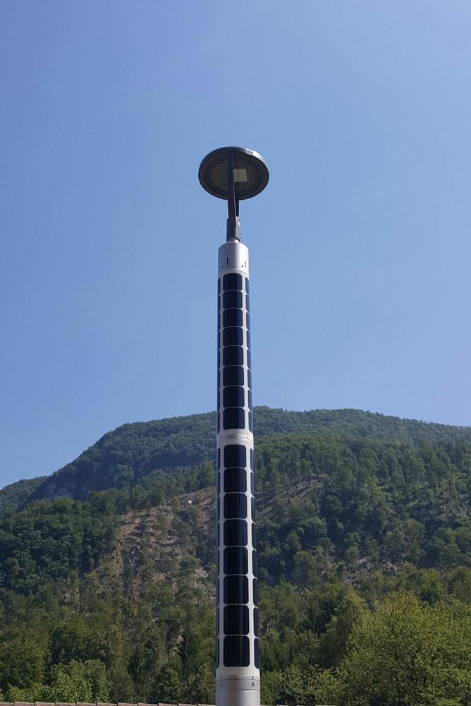 Soluxio slimme lantaarnpaal zonne-energie
