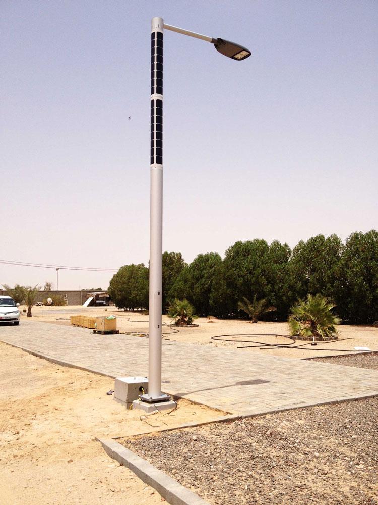 Soluxio zonne-energie lantaarnpaal