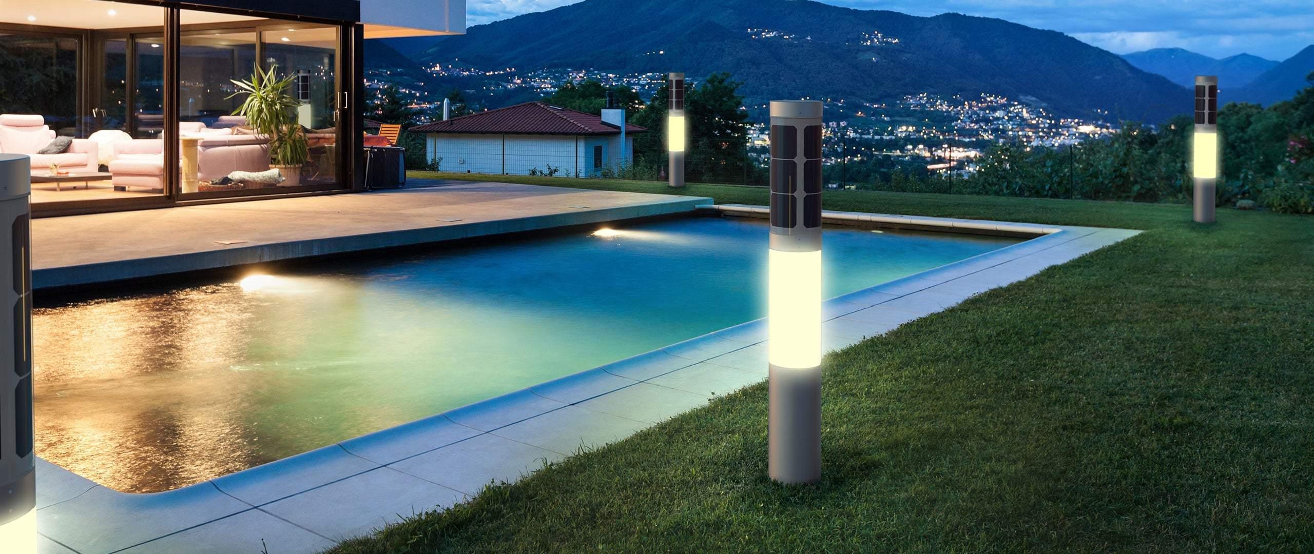 FlexSol NxT farol solar en el jardín de un chalet- Diseño Holandés