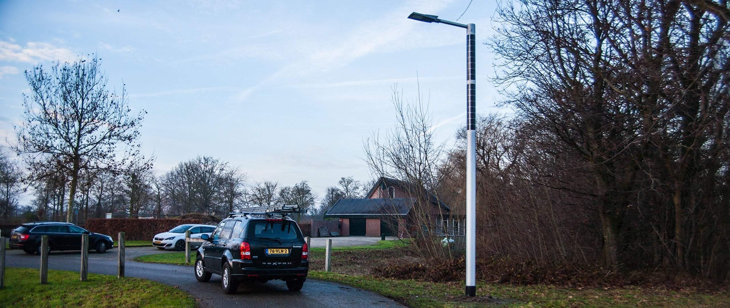 Poste de luz solar -Soluxio Grid alumbrado público solar carretera
