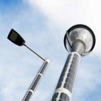 Solar Lichtmast Soluxio Solar Strassenlaterne mit Leuchte und Armaturaufsaetze